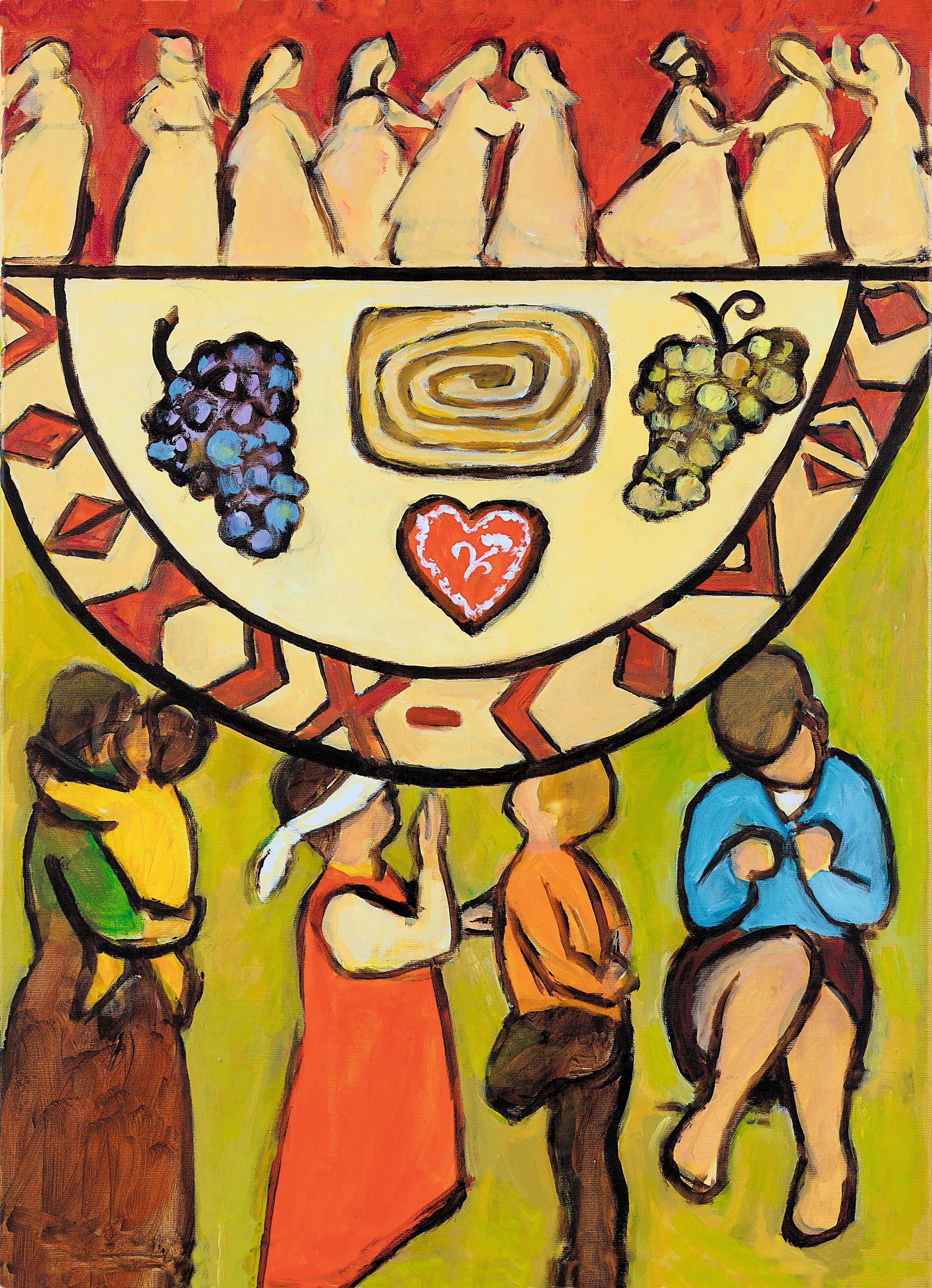 Das Titelbild zum Weltgebetstag der Frauen stammt von der slowenischen Künstlerin Rezka Arnuš.