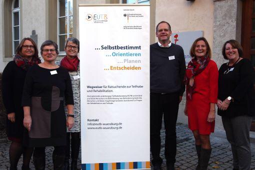 Das Team der Ergänzenden unabhängigen Teilhabeberatung (EUTB) der Integrationsfachdienst Würzburg GmbH (ifd) (von links): Jutta Liehr, Christine Moser, Gerda Hoh, Dieter Körber, Eva Klässer und Silvia Glassen.