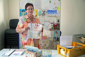 Rosemarie Schotte leitet seit 1993 die Weihnachtspostfiliale in Himmelstadt.
