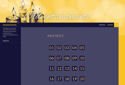 Einen gemeinsamen Adventskalender im Internet bieten die bayerischen (Erz-)Bistümer auch im Jahr 2018 unter der Internetadresse www.adventsmomente.de