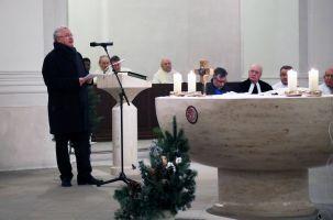 """In seiner Dankesansprache am Ende des Gottesdiensts betonte Professor Dr. Klaus Reder im Na-men von Sant'Egidio, dass die Gemeinschaft überzeugt sei: """"Das Evangelium gilt allen Menschen."""""""