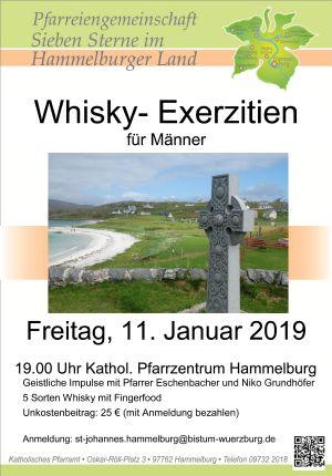 """Mit diesem Plakat wirbt Pfarrer Thomas Eschenbacher für seine """"Whisky-Exerzitien""""."""