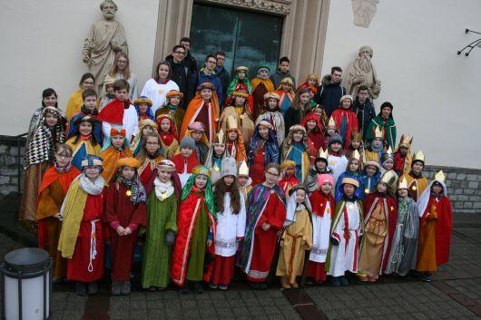 Auch in Rimpar (Dekanat Würzburg rechts des Mains) waren zahlreiche Sternsinger unterwegs.