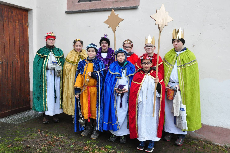 Diese jungen Könige brachten den Segen in die Häuser von Pflochsbach (Dekanat Lohr).