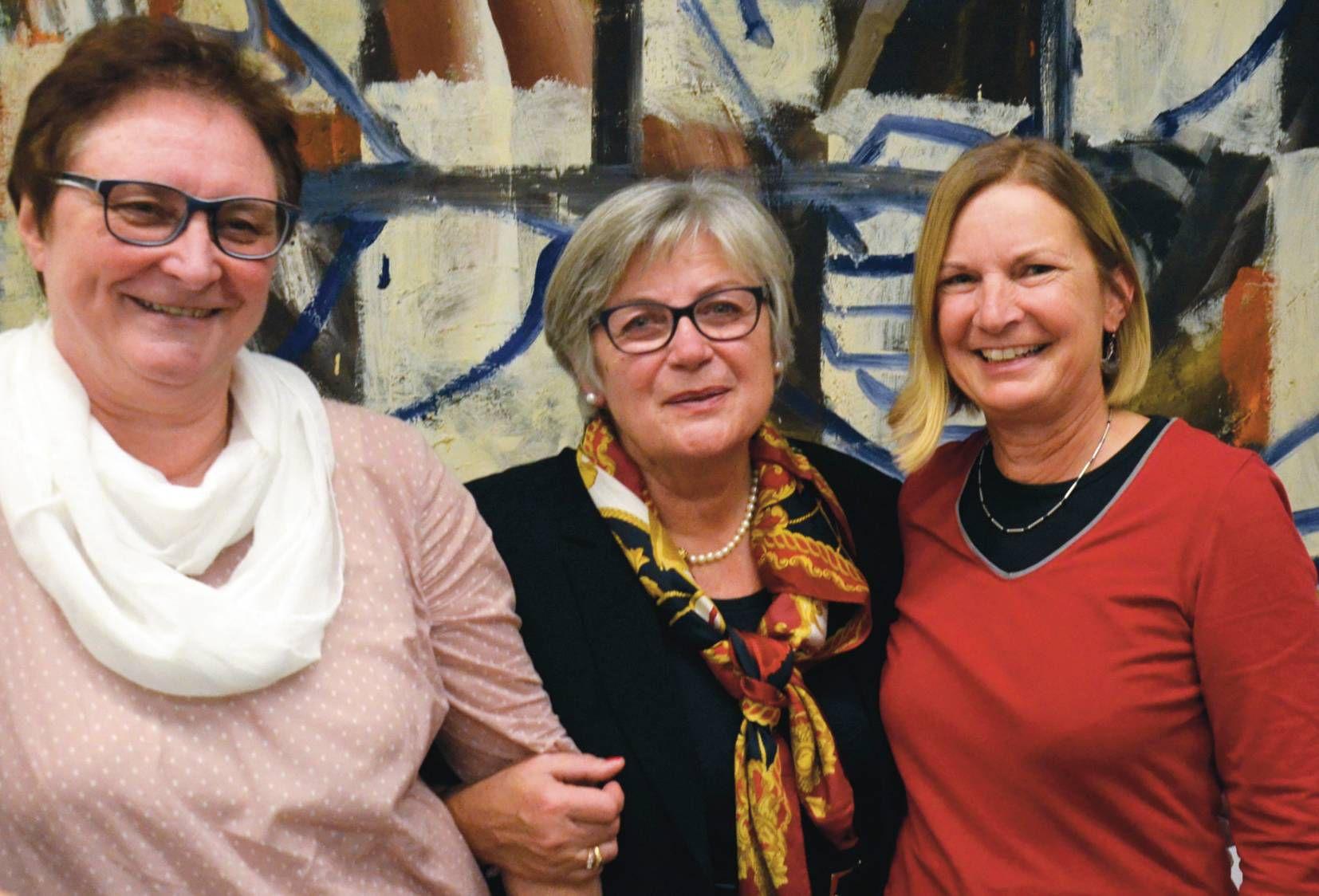 Frauenpower in Würzburg: Angelika Goj vom Stadtverband der KAB, Referentin Edeltraud Linkesch und KAB-Bildungsreferentin Evelyn Bausch.