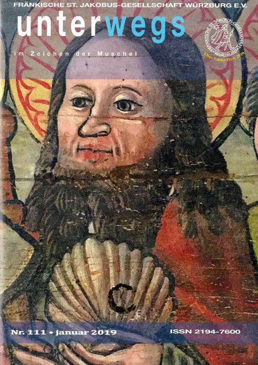 """Die aktuelle Ausgabe """"Unterwegs im Zeichen der Muschel"""" der Fränkischen Sankt Jakobus-Gesellschaft Würzburg blickt auf das 30. Gründungsjubiläum zurück."""