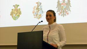 Judith Gerlach, bayerische Staatsministerin für Digitales, sprach beim Neujahrsempfang des Würzburger Cartellverbands im Burkardushaus.