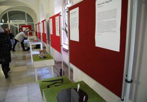 """Zehn Entwürfe für ein """"Mahnmal Hexenverfolgung"""" für Würzburg haben die Teilnehmerinnen und Teilnehmer des Projektseminars Religion/Kunst des Würzburger Röntgen-Gymnasiums geschaffen. Diese sind derzeit im Würzburger Kilianeum-Haus der Jugend ausgestellt."""