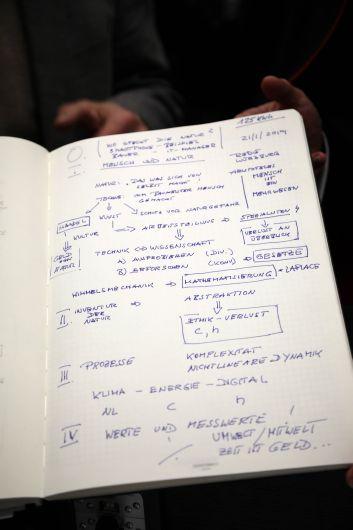Das Manuskript, anhand dessen Professor Dr. Harald Lesch seinen Festvortrag beim Würzburger Diözesanempfang 2019 hielt.