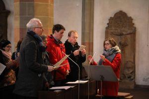 Für die musikalische Gestaltung sorgte unter anderem ein Chor der Gemeinschaft Sant'Egidio.