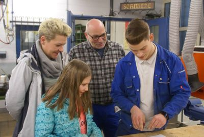 Beim Tag der offenen Tür der Caritas-Don Bosco gGmbH, der Berufsschule Don Bosco und der Agentur für Arbeit Würzburg wurden die Mitmachaktionen sehr gut angenommen.
