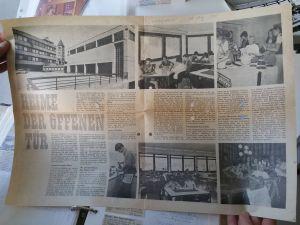 """Schüler und junge Berufstätige aus dem Landkreis Schweinfurt sollten während ihrer Warte- oder Pausenzeiten nicht auf der Straße, in Kaufhäusern oder Wirtschaften """"herumgammeln"""". Deswegen wurde 1969 ein Freizeitheim im katholischen Dekanatszentrum Schweinfurt eröffnet. Unter dem Namen """"kom,ma"""" feiert das Haus im März sein 50. Jubiläum. Längst ist es zu einer zeitgemäßen Anlaufstelle für die Jugend geworden. Vor dem Jubiläum schlachtet das kom,ma-Team sein Archiv aus. Darin befindet sich auch ein Sonntagsblatt-Beitrag vom 29. August 1971 über die """"Heime der offenen Tür"""". """"In Süddeutschland kennt nur noch die Erzdiözese Freiburg ähnliche Einrichtungen"""", schrieb die Bistumszeitung damals."""