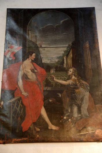 """Das """"Noli me tangere"""" war früher vorübergehend Altarbild der Kirche und entstand um 1650."""