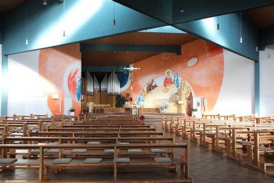 Blick in den Kirchenraum des Roncalli-Zentrums.