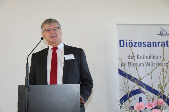 """Seinen ersten """"Bericht zur Lage"""" gab Diözesanratsvorsitzender Dr. Michael Wolf."""