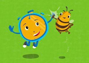 """Das Plüschtier """"Stoppi"""" und Biene """"Sabiene"""" sind die bundesweiten Maskottchen der bundesweiten 72-Stunden-Aktion 2019 des Bunds der Deutschen Katholischen Jugend (BDKJ)."""