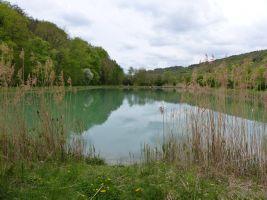 Vorbei am See bei Retzstadt.