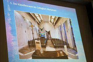 Die Kapelle des Erzbischöflichen Collegium Marianum in Neuss war das erste gemeinsame Projekt von Heinz Mack und Bischof em. Dr. Friedhelm Hofmann.