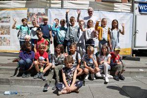 Die Kommunionkinder aus der Pfarrei Sankt Peter und Paul in Kleinwallstadt.