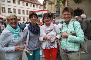 Von der Predigt des Bischofs angetan waren (von links): Ellen Grimm, Sabine Kram, Ruth Kram und Renate Bernard aus Hausen und Trennfurt (Dekanat Obernburg).