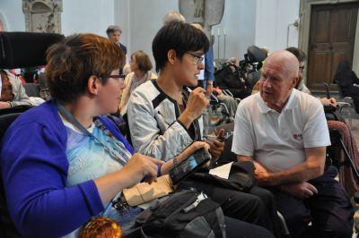 Die Malteser freuen sich besonders auf die persönlichen Begegnungen bei der Kiliani-Krankenwallfahrt, die dieses Jahr am Samstag, 13. Juli, stattfindet. (Archivfoto)