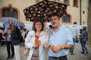 Vom äußersten Rand des Bistums sind Monika und Johannes Schmitt aus Reckendorf (Dekanat Haßberge) angereist.