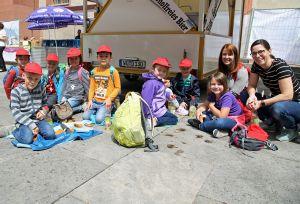 Die Kinder vom Kindergarten Sankt Josef in Eußenheim.