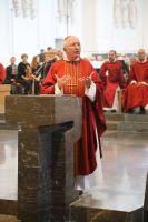 """""""Alle Verkündigung beginnt mit dem Zeugnis ohne Worte"""", hob Weihbischof Ulrich Boom in seiner Predigt hervor."""