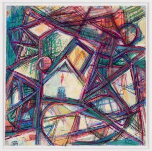 Jehuda Bacon, Mischtechnik auf Papier, ohne Jahr, ohne Titel.