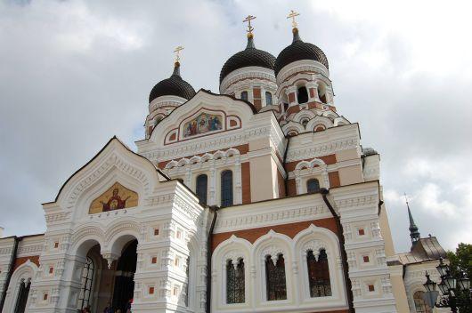 Die russisch-orthodoxen Alexander-Newski-Kathedrale in der Altstadt von Tallinn.