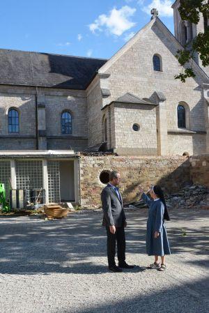Wenn die Umbaumaßnahmen abgeschlossen sind, wird es um die Kirche herum grüner sein.