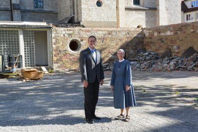 Momentan wird auf dem Gelände des Mutterhauses der Erlöserschwestern in Würzburg viel gebaut.