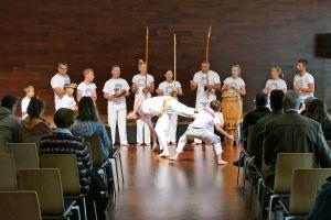 Die Capoeira-Gruppe des Turnvereins 1860 Aschaffenburg begeisterte mit ihrer Darbietung die Zuschauer.
