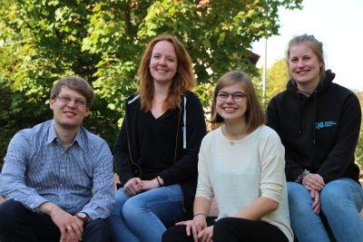 Die neue Diözesanleitung der KjG (von links): Andreas Kees, Lisa Deeg, Miriam Großmann und Judith Wünn.