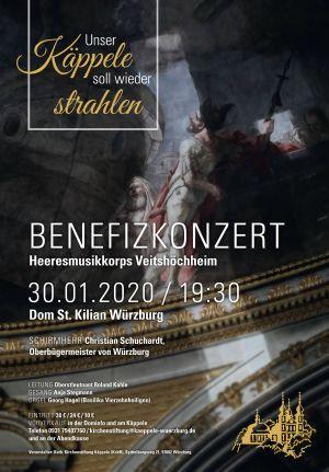 Zu einem Benefizkonzert zugunsten der Innenrenovierung des Würzburger Käppele lädt die katholische Kirchenstiftung Käppele am Donnerstag, 30. Januar, um 19.30 Uhr in den Kiliansdom ein.