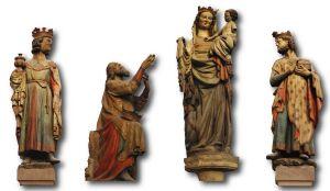 Fotomontage der Dreikönigsgruppe mit der Gottesmutter Maria im Dom.