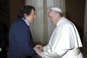 Ein bewegender Moment für Wolfgang Scharl: Die Begegnung mit Papst Franziskus.
