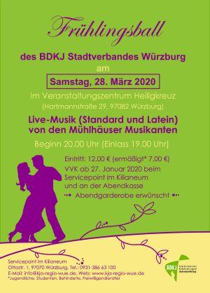 Der Flyer des BDKJ-Frühlingsballs 2020