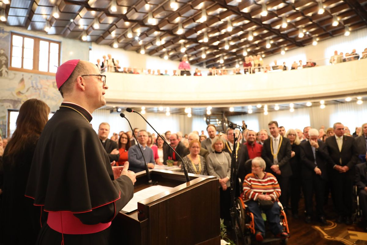 Bischof Dr. Franz Jung war Hauptredner beim Neujahrsempfang der Stadt Würzburg am Sonntag, 12. Januar 2020, im Rathaus.