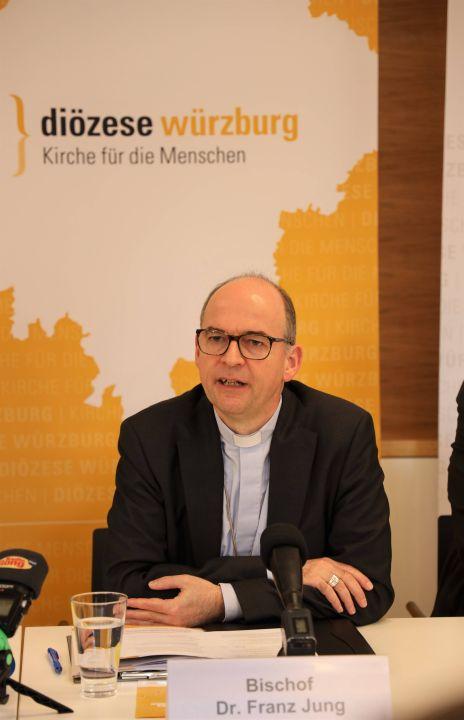 Bischof Dr. Franz Jung erläuterte unter anderem das biblische Motto, unter das er das Jahr 2020 im Bistum Würzburg gestellt.