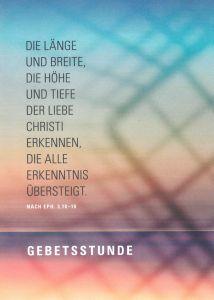 """Die Länge und Breite, die Höhe und Tiefe der Liebe Christi erkennen, die alle Erkenntnis übersteigt"""" (nach Eph. 3,18-19). Unter diesem Leitwort von Bischofs Dr. Franz Jung für das Jahr 2020 ist ein neues Gebetsheft von Domvikar Paul Weismantel erschienen."""