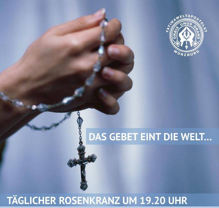 Das Fatima-Weltapostolat im Bistum Würzburg lädt dazu ein, jeden Abend um 19.20 Uhr den Rosenkranz zu beten.