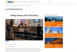 BibelTV überträgt ab Mittwoch, 25. März, die täglichen Gottesdienste aus der Sepultur des Würzburger Kiliansdoms auch auf seiner Internetseite.