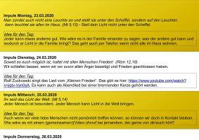 """Impulse für jeden Tag und dazu eine kreative Idee gibt es im """"Hausbrief"""" der Pfarreiengemeinschaft """"Regenbogen im Bachgau, Pflaumheim"""" und der Einzelpfarrei Großostheim"""