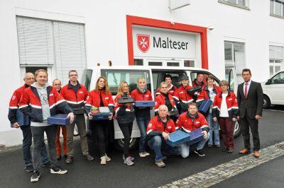Das Menüserviceteam des Malteser Hilfsdiensts der Diözese Würzburg.
