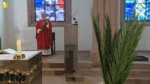 Bischof Dr. Franz Jung feierte am Palmsonntag, 5. April, einen nichtöffentlichen Gottesdienst in der Sepultur des Kiliansdoms.