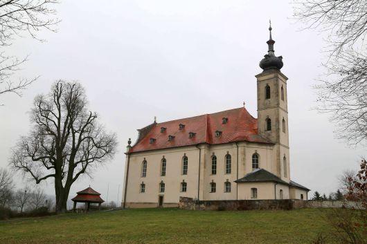 Die Wallfahrtskirche von Limbach (Landkreis Haßberge).