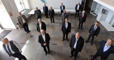 Die Mitglieder des Diözesansteuerausschusses. Am Dienstag, 19. Mai, hatte das Gremium im Würzburger Burkardushaus seine konstituierende Sitzung.