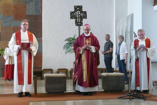 Bischof Dr. Franz Jung feierte am Freitagabend, 10. Juli, einen Kiliani-Wallfahrtsgottesdienst in der Aschaffenburger Pfarrkirche Sankt Kilian.