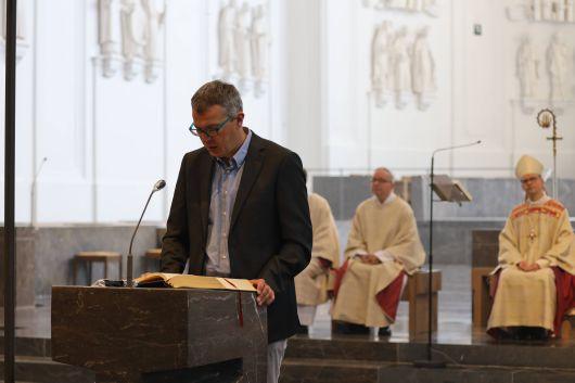 Mit einem Pontifikalgottesdienst mit Bischof Dr. Franz Jung und einem Festakt im Burkardushaus hat die Mitarbeitervertretung (MAV) im Bistum Würzburg am Montag, 13. Juli, ihr 50. Jubiläum begangen.